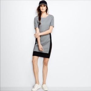 J. Crew colorblock ponte dress grey black 12